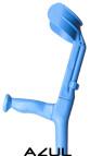 codo de baston azul