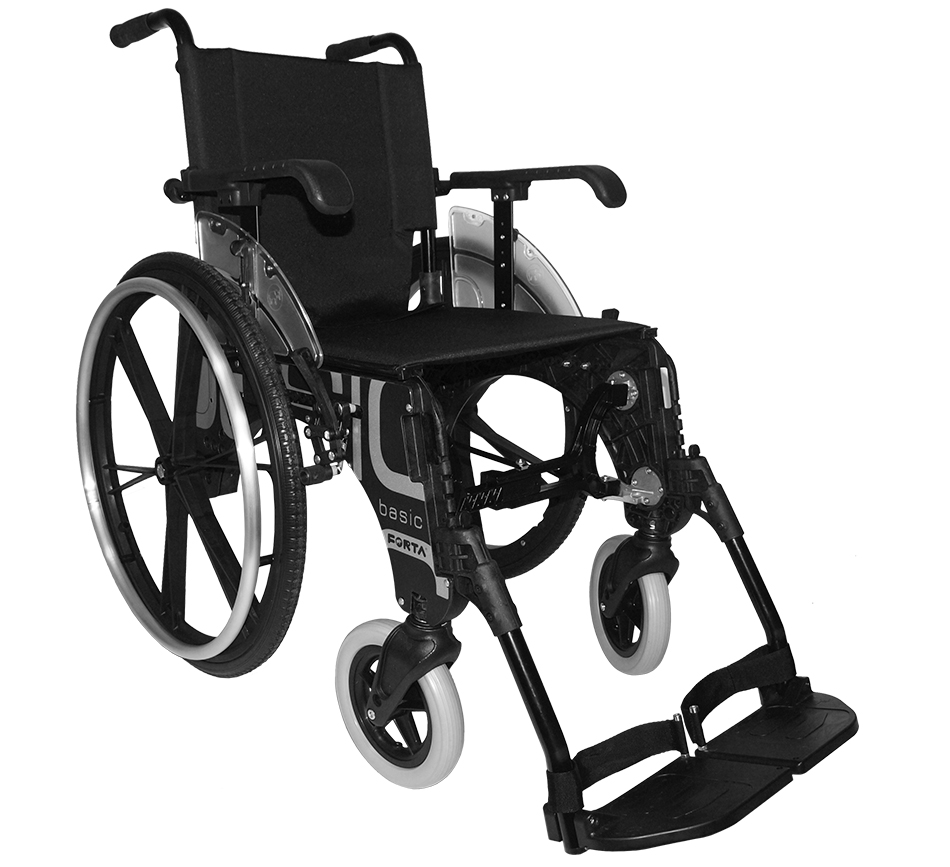 Caracter sticas de la silla de ruedas basic de forta for Sillas de ruedas estrechas